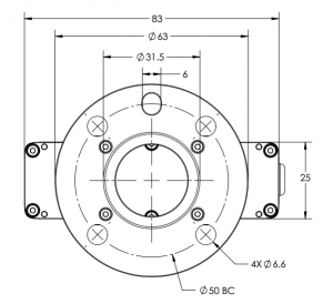 Cobot gripper mounting diagram